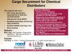 Cargo Securement for Chemical Distributors