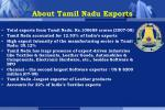 About Tamil Nadu Exports