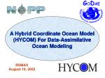 A Hybrid Coordinate Ocean Model (HYCOM) For Data-Assimilative Ocean Modeling