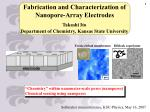 Fabrication and Characterization of Nanopore-Array Electrodes