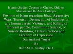 Islamic Studies Courses in Chabot, Ohlone, Mission and De Anza Colleges
