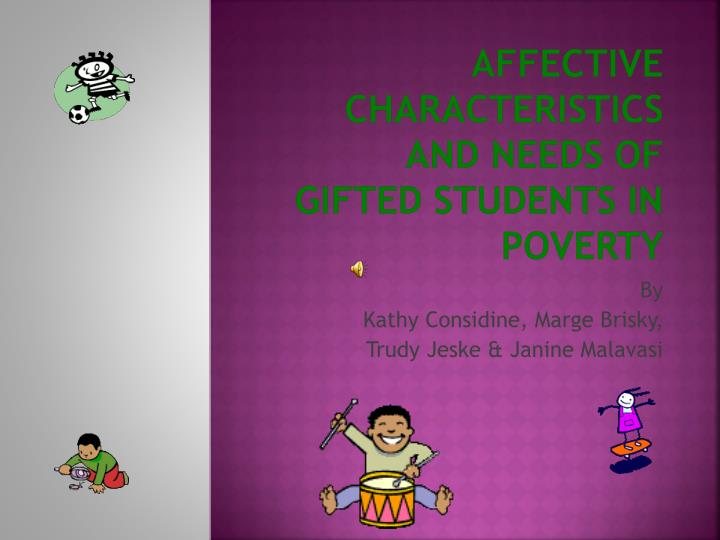 affective characteristics and needs of gifted students in poverty n.