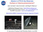 Ablation of PICA-like Materials Surface or Volume phenomenon?