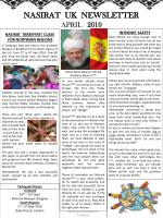 NASIRAT  UK  NEWSLETTER APRIL    2010