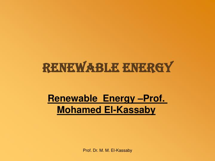 renewable energy n.