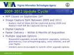 2009-2012 Update Cycle