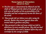 Three types of Characters (Surah An-Naml