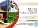Indonesian Science and Technology Indicator