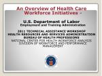 An Overview of Health Care Workforce Initiatives -