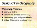 Using ICT in Geography