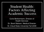 Student Health: Factors Affecting Academic Success