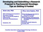 Developing and Submitting a Research Proposal in Psychosocial Oncology: Tips on Getting it Funded