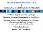STOMP—Stop Tobacco On My People Statewide Network of Communities in New Mexico