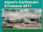 Japan's Earthquake &Tsunami 2011
