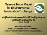 Network Node Model for Environmental Information Exchange
