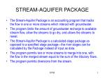 STREAM-AQUIFER PACKAGE