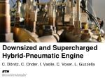 Downsized and Supercharged Hybrid-Pneumatic Engine