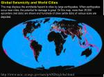 Global Seismicity and World Cities