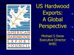 US Hardwood Exports: A Global Perspective Michael S Snow Executive Director AHEC