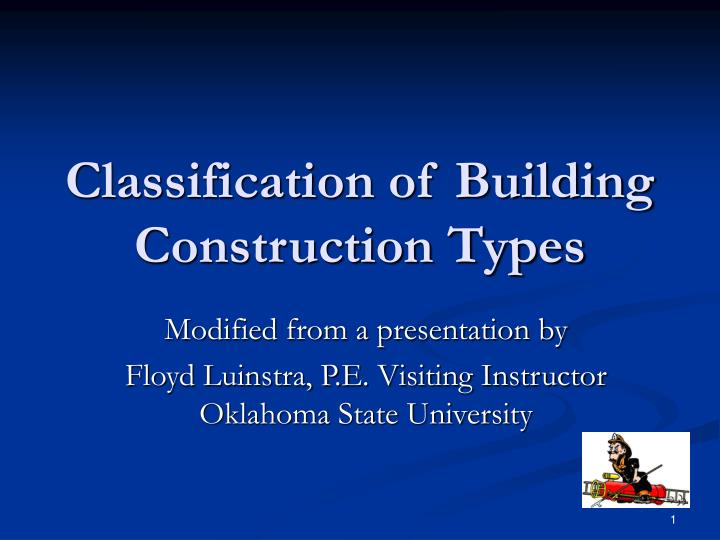 classification of building construction types n.