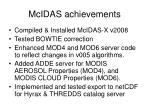 McIDAS achievements