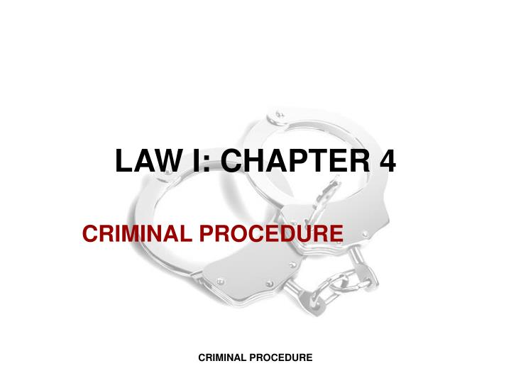 law i chapter 4 n.