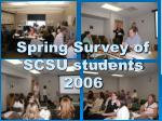 Spring Survey of SCSU students 2006