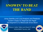 SNOWIN' TO BEAT THE BAND