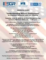 "REGISTER NOW!!		 ""Understanding Military Deployment"" An Employer Resource Town Hall Meeting"