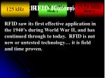 RFID Frequencies