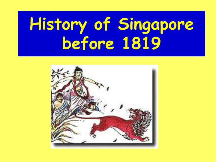 history of singapore before 1819 n.