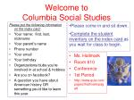 Welcome to Columbia Social Studies