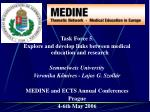 Task Force 5. Explore and develop links between medical education and research