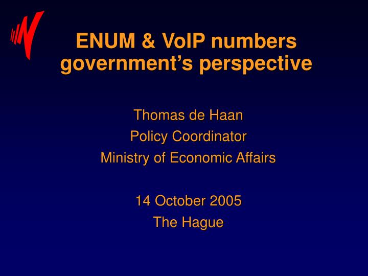 enum voip numbers government s perspective n.