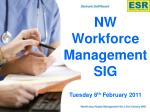 NW  Workforce Management SIG Tuesday 8 th  February 2011