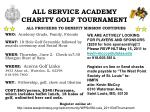 ALL SERVICE ACADEMY  CHARITY GOLF TOURNAMENT