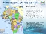 A Summary Report, WMO REGION1 AFRICA (For the UNEP/WMO 7ORM Meeting 18-21May2008, Geneva)