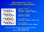 Superconductivity in CaC 6 ,  a heavily electron-doped graphite