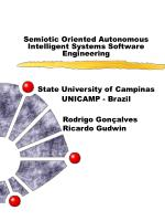 Semiotic Oriented Autonomous Intelligent Systems Software Engineering