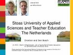 Stoas University of Applied Sciences and Teacher Education The Netherlands