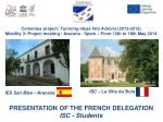 Comenius  project :  Tunrning Ideas Into  Actions  (2013-2015)