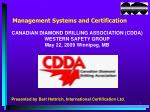 Management Systems and Certification