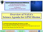 2nd International Planning Workshop on GPM
