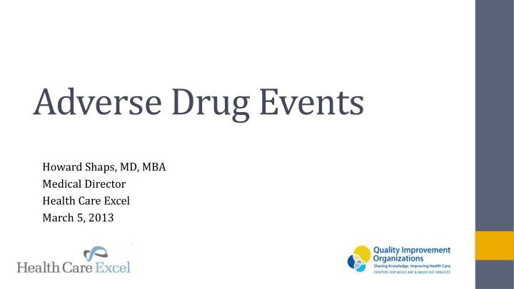 adverse drug events n.