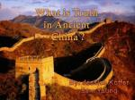 What is Truth in Ancient China ?