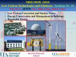 NBSLM03E (2010) Low Carbon Technologies and Solutions: Sections 14 - 16