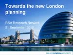 Towards the new London planning