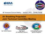 Air Breathing Propulsion Joint Technical Committee Meeting