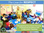 Recognizing Educational Success,  Professional Excellence and Collaborative Teaching