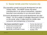 5. Social trends and the inclusive city